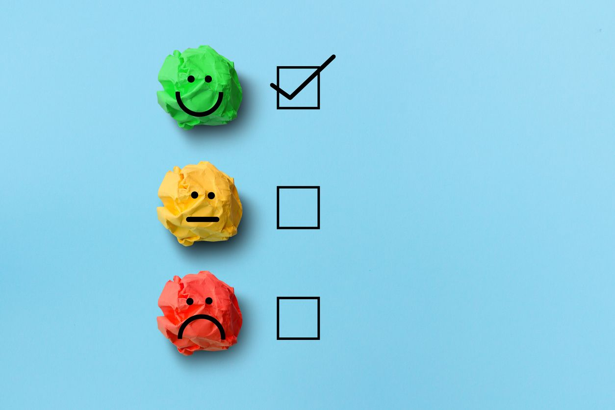 select happy on satisfaction evaluation