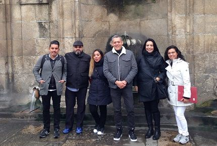 Nuestros clientes mexicanos visitan las oficinas de Ourense