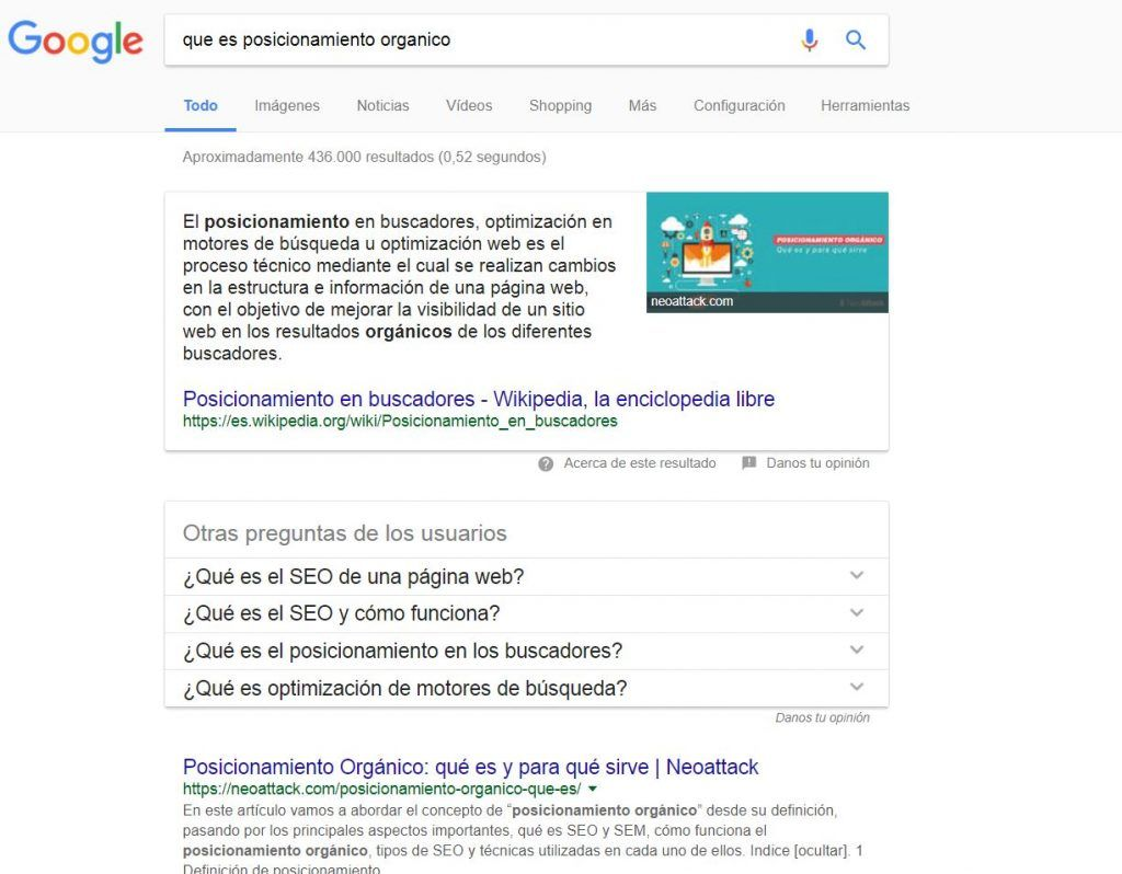 fragmentos destacados google